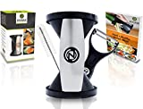 3. The Original Zoodle Slicer - Complete Vegetable Spiralizer, Spiral Slicer Bundle (With Cleaning Brush, Peeler & Recipe eBook) (HandHeld)