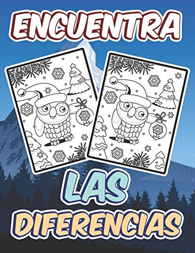 Encuentra las Diferencias: Busca y encuentra las diferencias - Buscar y encontrar Navidad Libro de actividades puzzles desafiantes y divertidos