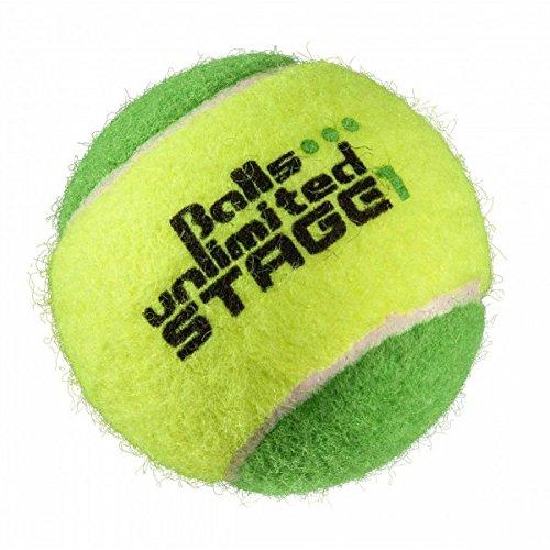 Topspin Balls Unlimited Stage 1 (grün) Kinderbälle, Trainingsbälle 25% Druckreduziert, Methodikbälle - 60er Beutel