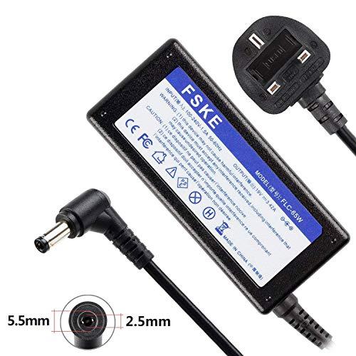 FSKE 65 W 19 V 3,42 A Laptop-Ladegerät für ASUS Toshiba Lenovo Medion X751S X550C X401A X552C G460 AC Adapter, AD883220 PA-1650-78 EXA1203YH PA3917U-1ACA PA-1650-01 Notebook UK-Netzteil, 5,5 x 2,5 mm