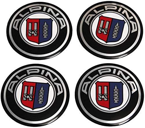 4Pcs Tapas De Cubo De Centro De Rueda para BMW E36 F30 X5 E53 F10 E34 E30 F20 X5 E7 56.5mm, Coche Logo Emblem Wheel Center Rim Hub Caps Pegatinas Compatible