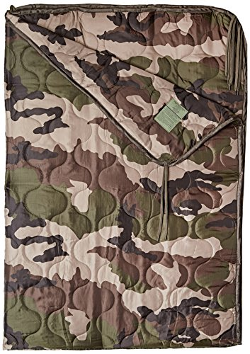 Poncho Liner Travel Sleeping Bag Quilted Padded Mat Ripstop French Army CCE Camo