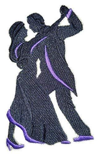 BeyondVision Lassen Sie Uns tanzen individuelle und einzigartige bestickte Eisen Nähen Patches 6.8x4.78 schwarz, lila