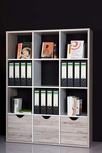 AVANTI TRENDSTORE - Eloris - Divisore con scompartimenti Aperti e cassetti, Disponibile in 2 Colori e 2 Misure Diverse (Lap 110x146x34 cm, Marrone e Bianco)
