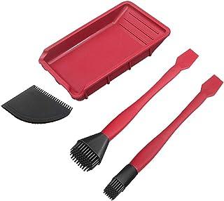 Fenteer Red Silicone Glue Kit Glue Spreader