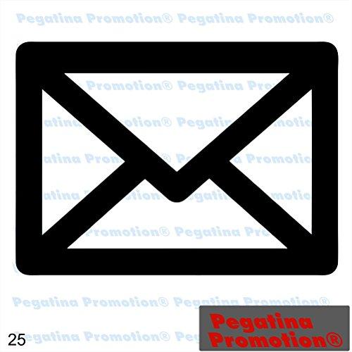 Piktogramm Typ 25 Icon Symbol Zeichen Briefumschlag Post Email Aufkleber Sticker ca.15cm von Pegatina Promotion® Aufkleber mit Verklebehilfe von Pegatina Promotion® ohne Hintergrund geplottet
