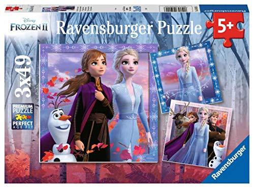 Ravensburger Kinderpuzzle - 05011 Die Reise beginnt - Disney Frozen Puzzle für Kinder ab 5 Jahren, mit 3x49 Teilen