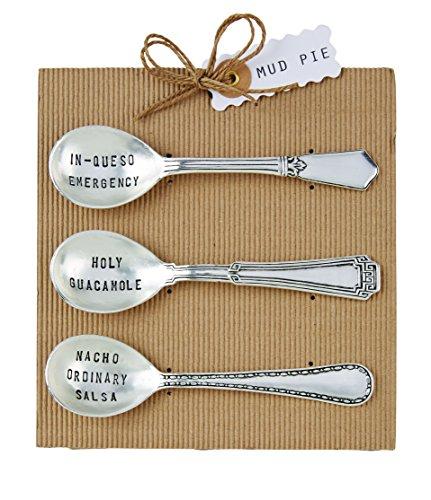 Mud Pie, Silver Circa Salsa Spoon Set