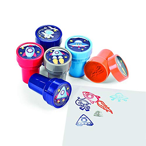 Make-A-Spaceship Stampers, Teacher Resources & Stampers & Stamp Pads, 4 packs of 6