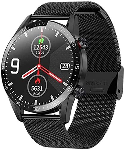 Reloj Inteligente Bluetooth Llamada ECG Ritmo Cardíaco Fitness Tracker Presión Arterial IP68 Impermeable Smartwatch para IOS Android-E