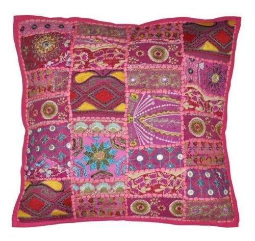 nandnandini textil–un perfecto regalo de Navidad indio decoración para el hogar hechos a mano bohemio manta Gypsy cojín almohada SHAM para sala de estar