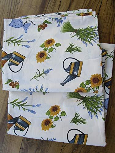 PAGO POCO Mehrzweck-Tagesdecke, Motiv: Sonnenblume Maße: 260 x 270 cm, 100 % Baumwolle, hergestellt in Italien. Neuheit 2020!!! !