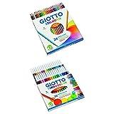 giotto stilnovo pastelli colorati & giotto turbo color pennarelli, colori assortiti