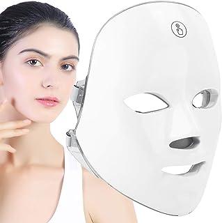 LED-gezichtsmasker Lichttherapie 7 kleuren foton Huidverjonging Gezichts- en nekmasker Anti-veroudering Vlekverwijdering R...