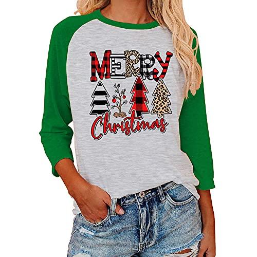 Camisetas de Navidad para mujer, diseño...