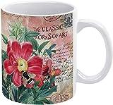 Taza de café de acuarela polinizadora miel abeja, sello de correo de vacaciones taza de café
