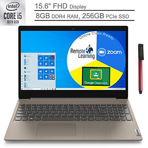 2020 Lenovo Ideapad 3 15 15.6' FHD Laptop Computer_ 10th Gen Intel Quad-Core i5 1035G1 (Beats i7-7500u)_ 8GB DDR4 RAM, 256GB PCIe SSD_ Almond_ Windows 10_ BROAGE 64GB Flash Drive_ Online Class Ready