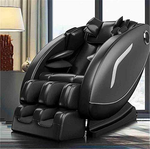 Sillas De Masaje Cuerpo Completo Y Reclinable, Sillón de masaje eléctrico con altavoz Calor / Bluetooth, Profesional de Shiatsu Relax Sillón, la gravedad cero - 3 colores disponibles ( Color : Black )
