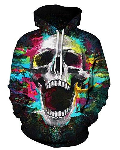 Honeystore Unisex Casual 3D Printed Sweatshirt Pullover Hoodie QYDM-324 XXL