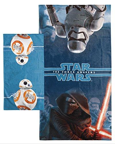 Star Wars Personajes 2Piezas Set de baño de algodón/de baño, Bb8 Blue, Talla única