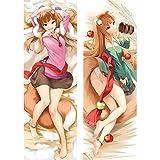 Anime Spice and Wolf Holo Dakimakura Hugging Throw Body Pillow Case Anime Mujeres Mujer Otaku Waifu DIY Disfraz Cubierta Regalos 34X100cm