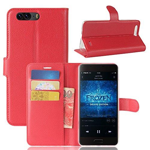 Litao-Case CN Hülle für Blackview P6 hülle Flip Leder + TPU Silikon Fixierh Schutzhülle Case 4