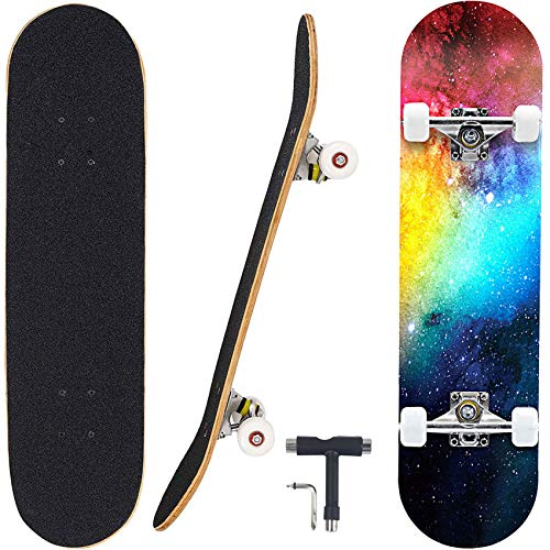 Geelife Skateboard 7 Layers Decks 31'x8' Pro Complete Skate Board Maple...