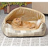 Lounge Sleeper Hooded Pet Bed Image