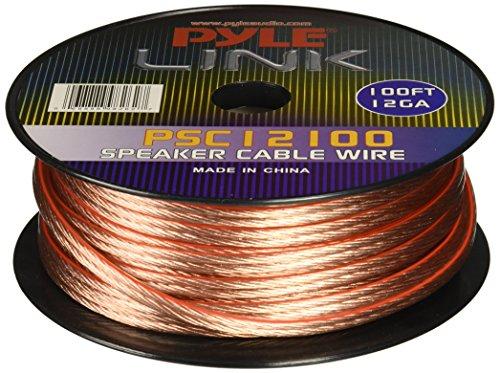 Pyle PSC12100 - Cable para altavoces (calibre 12, bobina de 30,48m)