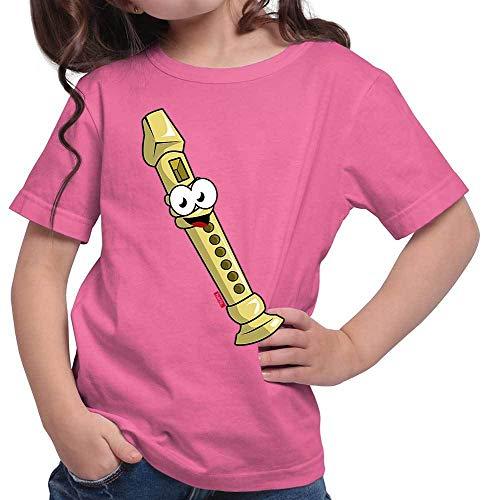 Hariz - Camiseta para niña con flauta y texto en alemán
