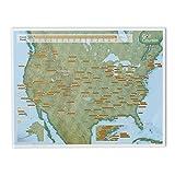 Maps International - Scratch Off USA Map Golf Print - 17 x 22 inches