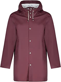 STUTTERHEIM Stockholm Raincoat Jacket X Small Burgundy