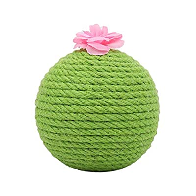 NASTRA Cat Catnip Toys for Cats Indoor Interactive,Cat Sisal Scratcher Ball Toys,Satisfies Cat's Scratching Nature and Protects Safety of Furniture