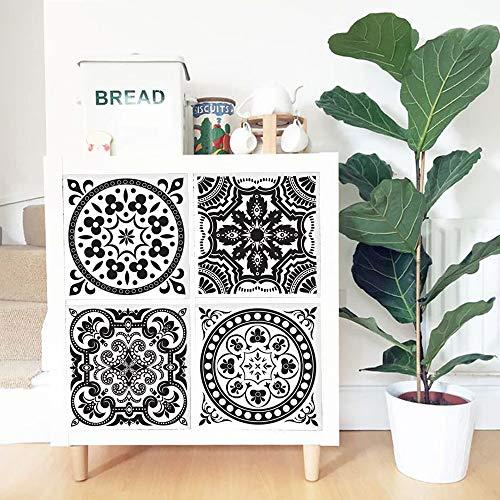 Alwayspon Pegatinas para muebles de 33 x 33 cm x 4 piezas para IKEA KE Expedit Kallax, estantería de almacenamiento, decoración de muebles para el hogar, bricolaje, despegar y pegar.