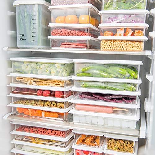 Voedsel Organizer Thuis Plastic Voedsel Opbergdoos Graan Container Keuken Organizer Keuken Organizer Voedsel Snack Groenten Organizer-Clear, 450 ML