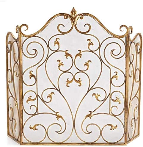 ZSEFV Screens Free shipping on posting reviews Fireplace Covers Decorative Guard 3 San Diego Mall Spark Panel I