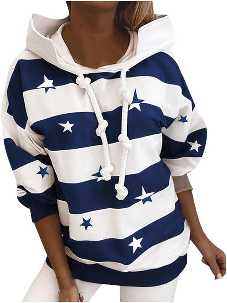 Womens Ranking TOP2 Zip Up Hooded Sweatshirt Long Hoodies Sleev Print Max 78% OFF Striped