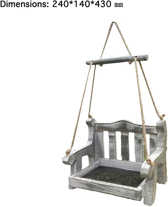 HTTMHU Automatic Swing Chair Bird In a popularity Ch Balcony Villa Feeder Don't miss the campaign Wooden
