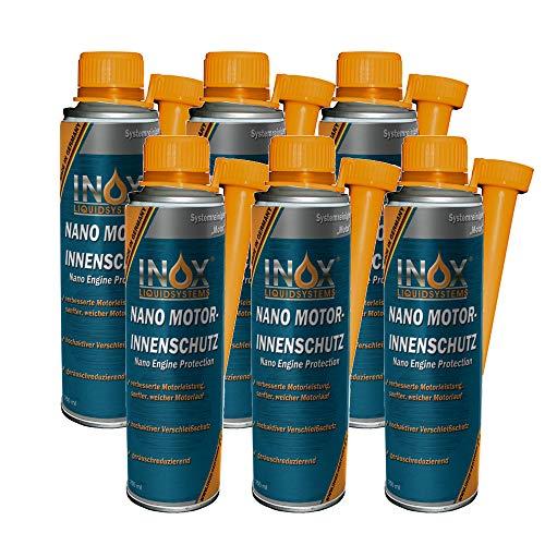 INOX® Nano aditivo de protección del Interior del Motor, 6 x 250ml - el sellador del Interior del Motor previene el Desgaste de Todos los Motores de Gasolina y Diesel