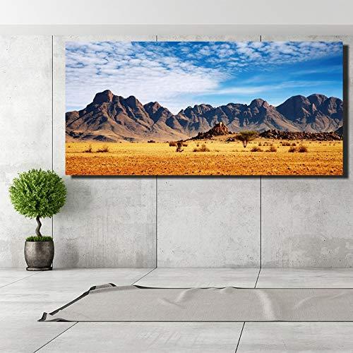 ganlanshu Rahmenlose MalereiBaiyun Berg Landschaft Leinwanddrucke realistischen Stil Wohnzimmer Wanddekoration20X40cm