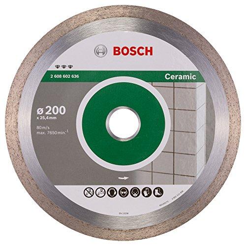 Bosch Professional Diamanttrennscheibe Best für Ceramic, 200 x 25,40 x 2,2 x 10 mm, 2608602636