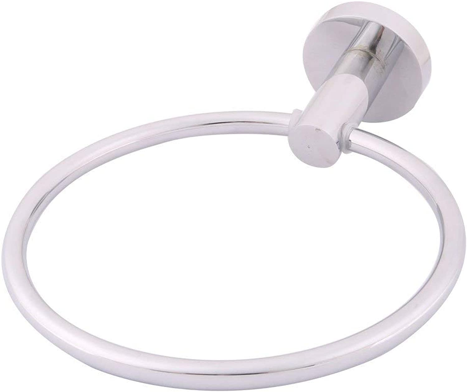 Stainless Steel Dormitory Shower Towel Handtowel Hanging Ring Holder Siver Tone