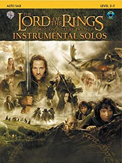The Lord of the Rings Instrumental Solos - Saxophone - Level 2-3 - Bk+CD
