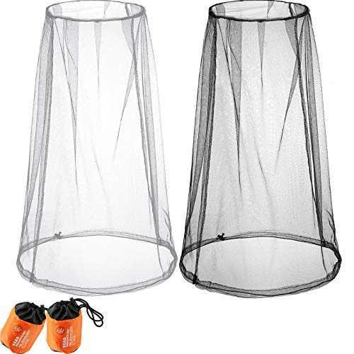 Mosquito Head Net Gnats Repellant Head Netting Mask for No-See-Ums and Other Insects, Mosquito Head Net Face Neck Protection, Bug Face Net Mesh for Any Outdoor Amateur, Works Over Most Hats Comes with