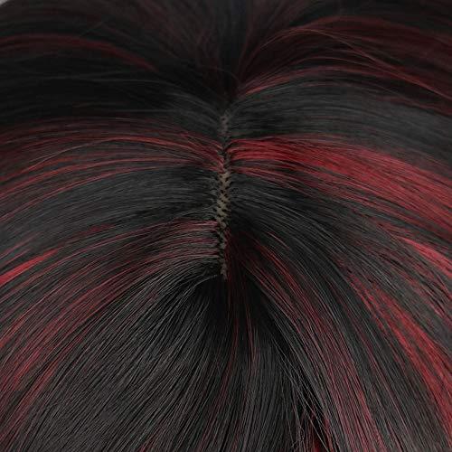 Der Femmes Longue Ondulée Natrual Mixte Blonde Perruque Perruques Synthétiques Résistantes À La Chaleur Synthétiques (Color : Mixed Blonde, Stretched