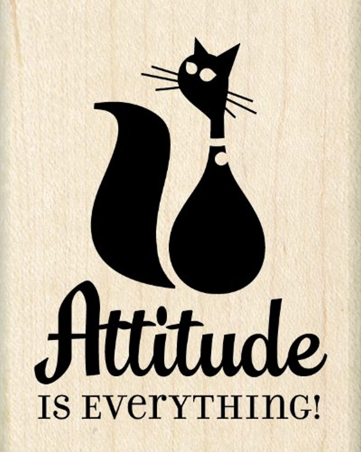 Inkadinkado Wood Stamp, Attitude is Everything