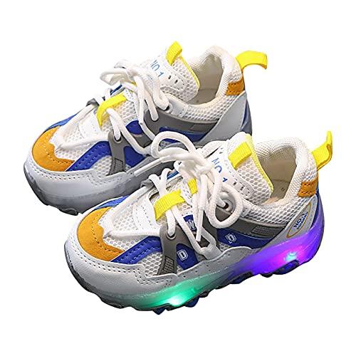 Baby Kinderschuhe LED Mädchen Jungen, Licht Turnschuhe Leuchtend Blinkschuhe Sportschuhe, Baby Unisex LED Sneaker Atmungsaktive Laufschuhe 21EU-30EU 1-6 Jahre