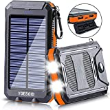 Solar Charger 20000mAh YOESOID Portable Solar Power Bank External...