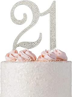 Best rhinestone 21 cake topper Reviews