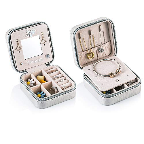 Yiluana Portable Jewelry Case Travel Earring Ring Necklace Accesories Organizer...